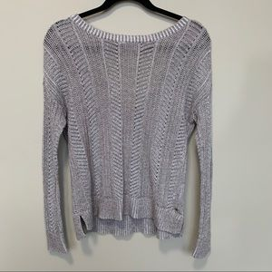American Eagle Crocheted Knit Brown Sweater Sz S